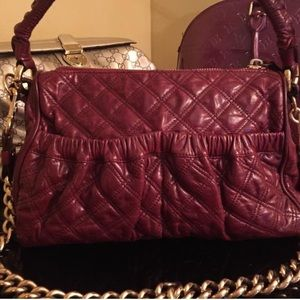 Marc Jacobs Bags - Marc Jacobs Quilted Leather Julianne' Burgundy Bag